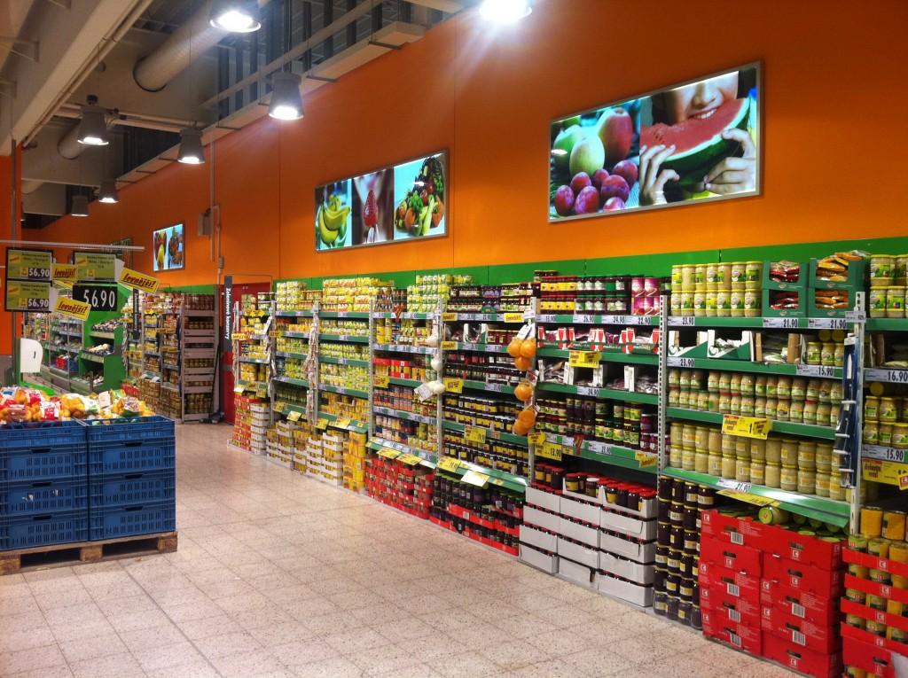 Led Slim Line Leuchtrahmen Für Lebensmittelkonzern in Tschechien